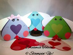 SU Heart framelits and punches, Perfectly Polka Dots embossing folder.