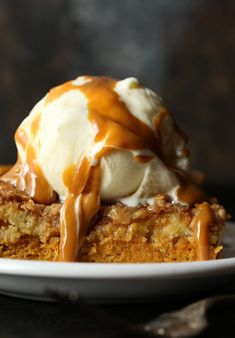 This Easy PUMPKIN DUMP CAKE recipe will quickly become your go-to fall dessert! It's made with yellow cake mix, which is a great shortcut.