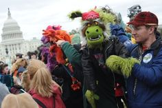 The Million Puppet March: Fighting for public broadcasting, with felt and fur - The Washington Post