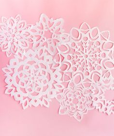Giant Paper Snowflakes   Oh Happy Day!