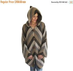 50% CLEARENCE Colourful Cardigan with Hood by AFRA