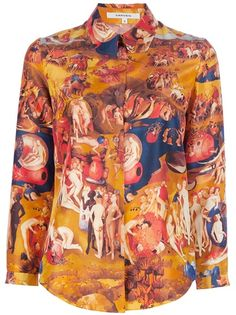 CARVEN Middle Ages Print Shirt