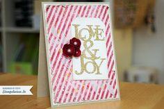 Weihnachtskarte - Love & Joy - Stempelwiese