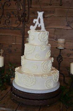 Bridal Cake at Old Glory Ranch #weddingcake www.oldgloryranch.com  www.facebook.com/oldgloryranch