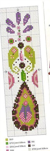 Paisley Style Cross Stitch Bookmark