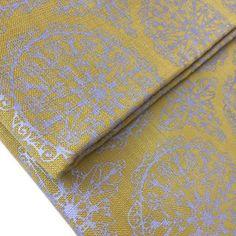 Taschenstoff Canvas Möbelstoff gelb taupe