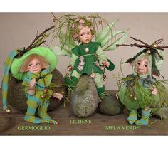 Elf doll: Lichen -  porcelain doll