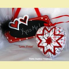 Quilted Heart Valentine Ornament Kit | Prairie Creations Ornaments