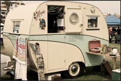 Vintage trailer from the 1970s, in Australia.