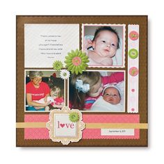New Sister Rotary Blades Idea Scrapbook Layout