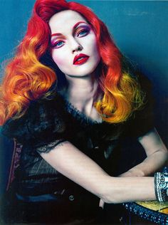 Steven Meisel - hair and make up looks amazing! -repinned by Southern California portrait photographer http://LinneaLenkus.com  #portraitphotographer