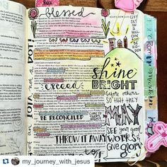 #GLOW2016 #glowbiblejournaling #bible #art #journalyourjourney #biblejournaling #journalingbiblecommunity #journalingBible #illustratedfaith #biblestudymoments #writtenworship #scripturedoodle  #Repost @my_journey_with_jesus with @repostapp  In the same way let your light shine before others so that[a] they may see your good works and give glory to your Father who is in heaven. - Matthew 5:16  #shinebright #praisethelord #heisgood #biblejournaling #biblejournalingcommunity #journalingbible…