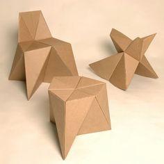 DIY cardboard kids furniture - seen on habitatkid Cardboard Kids, Cardboard Chair, Diy Cardboard Furniture, Cardboard Design, Paper Furniture, Cardboard Playhouse, Cardboard Crafts, Kids Furniture, Furniture Making