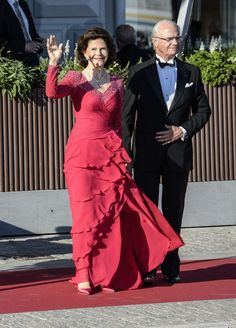 King Carl Gustaf and Queen Silvia hosts  a private gala dinner at Grand Hotel for Princess Madeleine's  wedding