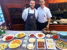 Michelin Starred Staff on Board. Chef Andrea Mattei of Meo Modo.