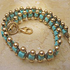Turquoise Goldfield Bracelet Free Shipping Silver by OsnatAmizurJD