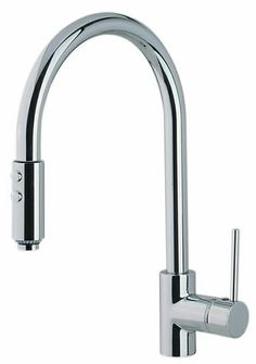 The ROHL Modern Architectural Side Lever Pull Down High Spout Kitchen Faucet is compact and contemporary. Add it to your #ROHLWaterApp for a clean and modern presentation.