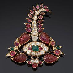 Turban ornament, inspiration for jewelry lovers! Mughal Jewelry, India Jewelry, Jewelry Art, Antique Jewelry, Vintage Jewelry, Fine Jewelry, Jewelry Design, Women Jewelry, Unusual Jewelry