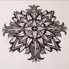 #mandala #zentangle #zendala #doodleart #zen #linework #stippling #geometry #symmetry #blackwork #mandalatattoo #mandalaart #inkart