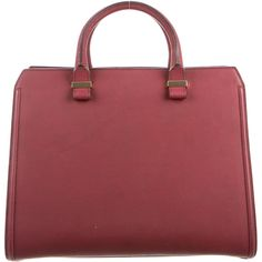 Pre-owned Victoria Beckham Victoria Handle Bag ($895) ❤ liked on Polyvore featuring bags, handbags, burgundy, red leather purse, red handbags, burgundy handbags, leather purses and red purse