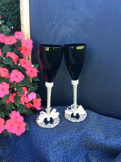 A personal favorite from my Etsy shop https://www.etsy.com/listing/481486757/groom-groom-wedding-toasting-glasses