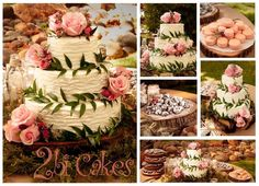 Rustic romance wedding cake by 2bi Cakes.