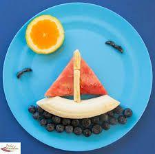 Resultado de imagen para comida divertida para niños con platano