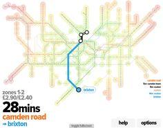 tuber - interactive london tube map