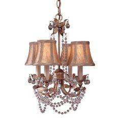 Great chandelier lighting idea for Master Bedroom or formal living room