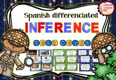 Spanish differentiated INFERENCE task cards. La inferencia en español