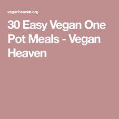 30 Easy Vegan One Pot Meals - Vegan Heaven