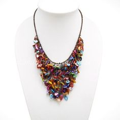 Colorful Shell V-shaped Necklace Unique Style Handmade Beaded Jewelry for Girls & Women Handiwork http://www.amazon.com/dp/B00LPDHH70/ref=cm_sw_r_pi_dp_V1.Vtb13J7DT42JF