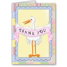 Thank You Baby Greeting Card