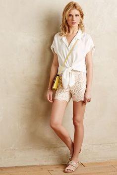 Cartonnier Scalloped Lacework Shorts
