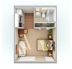 Studio Apartment Floor Plans, Studio Floor Plans, Studio Apartment Layout, Small Floor Plans, Design Apartment, Studio Layout, Apartment Ideas, Bedroom Apartment, Apartment Door