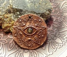 Bronze Protection Eye Star Pendant with a Rose by cynthiathornton, $27.00