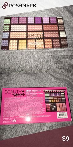 """Never opened Beauty Gems Simply Perfect Kit makeup Never opened """"Beauty Gems Simply Perfect Kit"""". 45 piece color compact -- includes 30 eye shadows, 5 lip glosses, 6 blushes, 2 applicators, 1 lip brush, 1 blush brush. Literally never opened or used, tape still on it. Ulta Makeup"""