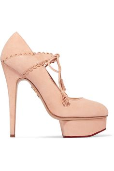 Charlotte Olympia - Ophelia Suede Pumps - Blush - IT