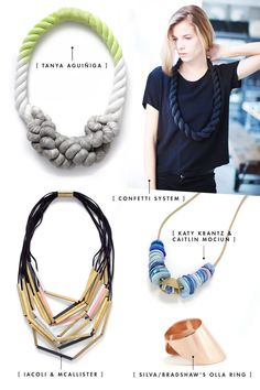 works of art to hang around your neck. sight unseen takes jewelry and wearable objects to retail. via A. Hakes