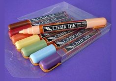 Chalk Ink Marker Sets .. great for writing names on wine glasses
