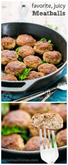 You Have Meals Poisoning More Normally Than You're Thinking That These Meatballs Are Incredibly Juicy. Look at The Theyll Be The Talk Of Your Dinner Party Natashaskitchen Meatball Recipes, Pork Recipes, Cooking Recipes, Healthy Recipes, Avocado Recipes, Chicken Recipes, Pork Meatballs, Pork Dishes, Italian Recipes
