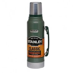 STANLEY CLASSIC VACUUM FLASK - 1 LITRE No camping trip would be complete without a flask! Stanley thermo flasks can keep liquid hot for up to 24 hours too! Invest at www.countryandoutdoor.co.uk