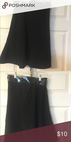 Junior girls black skirt Junior girls black skirt with belt barely worn. Wore for choir. Skirts Midi