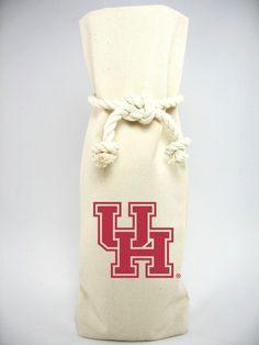"""University of Houston"" Canvas 1 Bottle Tote"