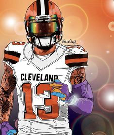 Kansas City Chiefs Football, Giants Football, Football Stuff, Football Players, Football Helmets, Odell Beckham Jr Wallpapers, Irving Wallpapers, Cleveland Browns History, Lawrence Taylor