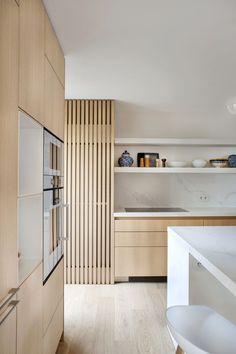 wood Kitchen / wood / brushed natural oak / marble / Kitchen in brushed natural oak / … Diy Kitchen Cabinets, Wooden Kitchen, Kitchen Cabinet Design, Modern Kitchen Design, Kitchen Hacks, Plywood Kitchen, Kitchen Dinning, Kitchen Layout, White Cabinets