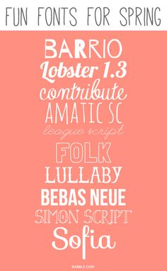 Fun Free Font Downloads for Spring