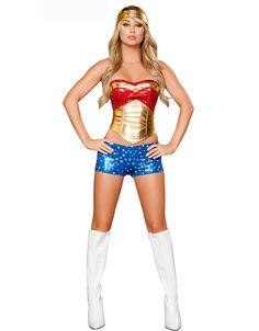wonder women adult superwomen sexy superwoman fancy dress costume superman cosplay super hero halloween for adults backless tops Wonder Woman Costumes, Wonder Woman Halloween Costume, Wonder Woman Cosplay, Sexy Costumes For Women, Corset Costumes, Fancy Costumes, Sexy Halloween Costumes, Super Hero Costumes, Halloween Party