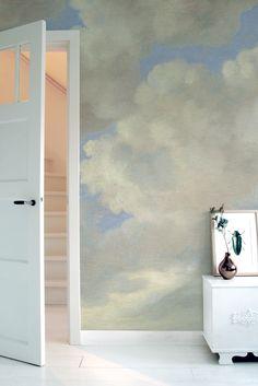 Kek Amsterdam Golden Age Clouds 1 x 280 cm felhő mintás tapéta Cloud Wallpaper, Photo Wallpaper, Golden Wall, Amsterdam Photos, Burke Decor, Pattern Wallpaper, Home Interior Design, Interior Stairs, Interior Paint