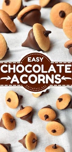 Bite Size Desserts, Cookie Desserts, Chocolate Desserts, Easy Desserts, Dessert Recipes, Chocolate Chips, Candy Recipes, Nutter Butter Cookies, Wafer Cookies